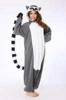 Unisex bell monkey - Novelty Animal Lemur Long Tail Monkey Adult Onesie Unisex Women Men s Kigurumi Pajamas Halloween Christmas Party Costumes