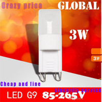 Wholesale lowest price G9 crystal chandelier LED lamp Dimmable W light beads pardew ceramic G9 light beads LED Bulb v v v led light