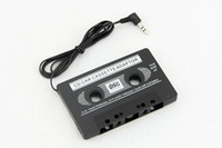 Wholesale 3 mm Black Car Cassette Tape Adaptor for iPod Touch for iPhone