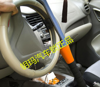 Wholesale Automotive steering wheel lock large dual card anti theft lock vehicle safety life saving hammer head self defense baseball bat lock