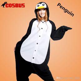Wholesale Kigurumi Christmas Costumes Pajamas All in One Pyjama Animal suit Cosplay Costume Adult Garment Flannel Penguin Cartoon Onesies