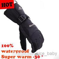 Wholesale Man Winter Ski Sport Waterproof Gloves Degree Warm Winter Ski Gloves Warm Motorcycle Snowboard Gloves Windstopper