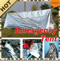 Wholesale 12um Aluminized Film Aluminum Tent Emergency Tent X240mmX90MM