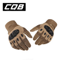 Wholesale Us Army Tactical Gloves Outdoor Military Full Finger Slip resistant Carbon Fiber Tortoise Shell Combat Gloves Training Gloves
