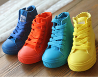 Fashion Boots kids boots - 2015 spring and autumn toddler boots high canvas shoes for boy and girl kids rubber outsole pair yard cm