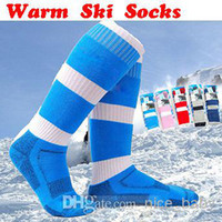 Wholesale Warm Winter Skiing Socks Knee length Socks Men s Hiking Skiing Sport Long Socks Thick Warm Skiing Socks