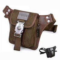 Wholesale Hengli Canvas Hunting Travel Sport Pocket Waist Bag Fanny Pack Brand Designer Small Shoulder Messenger Bag For Men