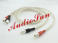 audio video interconnect - Pair Liton N Silver Audio Video cable M RCA interconnect cable with silver cardas rca plug