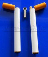 Wholesale 20pcs Reative Cigarette Shaped Refillable Butane Gas Flame Windproof Cigarette Cigar Lighter Same Size As Cigarettes