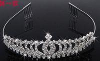 Tiaras&Crowns Rhinestone/Crystal  Queen Crystal Heart Crown Tiara Bridal Rhinestone Hair Accessory Wedding Hair Jewelry