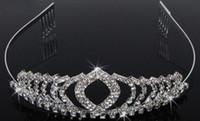 Tiaras&Crowns Rhinestone/Crystal  Fashion Hot Queen Crystal Heart Crown Tiara Bridal Rhinestone Hair Accessory Wedding Hair Jewelry