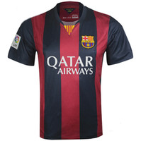 Soccer Men Short 2014-15 Barcelona Home Kit Thailand Quality Soccer Jerseys for Men Football Club Team Sporting Jerseys Customized Soccer Uniforms Wear