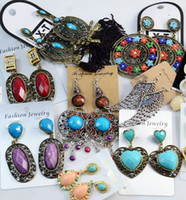 Wholesale Top Quality Fashion Vintage Crystal Chandelier Earrings Exaggerated Long Section Jewelry Earrings Mix