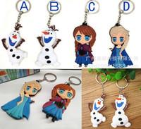 Wholesale Fedex EMS DHL Ship Frozen Princess Anna Elsa Key Chains Key Ring Cartoon Pendant Children Boys Girls Gifts Keychains Melee