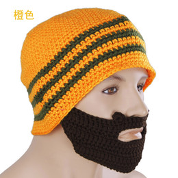 Wholesale Crochet Beard Beanie Mustache Mask Face Halloween Warmer Ski Winter Knit Hat Cap A24