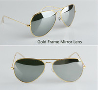 Wholesale High Quality Gold Frame mirror sunglasses New Fashion womens sunglasses Mens sunglasses new classic sunglasses mm glitter2009