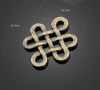 Charms Traditional Charm Other Free shipping 13188 vintga bronze Chinese knot charms Necklace earrings Pendants DIY alloy Charms Jewelry Findings & Components