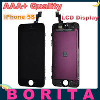 For Apple iPhone LCD Screen Panels  5pcs Grade AAA+ High Quality LCD Display Touch Screen Digitizer Full Assembly Replacement For iPhone 5S No Dead Pixel Spot