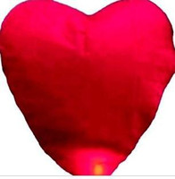 Multicolor Heart PA New 2014 Quality Heart Design Sky Kongming Lantern +Pen Flying Wishing Lamp Toys Memorial Wedding Party Paper Lights(10pcs lot)