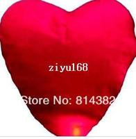 Multicolor Heart PA 5pcs lot Quality Heart Design Sky Kongming Lantern +Pen Flying Wishing Lamp Toys Memorial Wedding Party Paper Lights 83*59*33cm