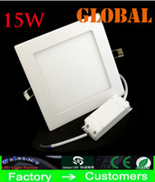 No 240V 2835 Cheap led panel Lights 15W 1300 Lumen Round Square lamp Super Thin ceiling light Natural White Warm White Indoor Lighting Real High Power