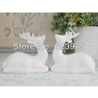 April Fool's Day ceramic pieces - Piece Pack Reindeer Sculpture Ceramic Wedding Cake Topper