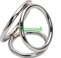 Steel   Stainless Steel Cock Ring Penis Rings Sex Toys for Men Penis toys Chastity Devices 3 Rings Together