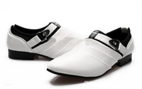 Slip-On Men  Lowest Price British Style Men Breathable Genuine Leather Buckle Pointed Dress Shoes