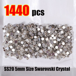 Wholesale SS20 mm Size Swarovski Crystal Hot Fix pack Nail Art Decoration Ornamnt Beauty Fashion