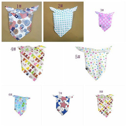 Wholesale Hot Baby Bandana Scarf Bibs Feeding Clear Triangle Cotton Kid Head Scarf Infant Bibs Burp Cloths Polychromatic z160