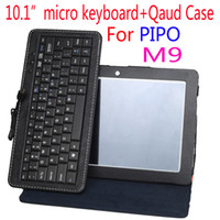 "Keyboard Case 10.1'' For Pipo M9/M9 pro Free shipping good quality luxury business Micro Keyboard Case cover For pipo M9 pipo m9 pro 10.1"" tablet pc"