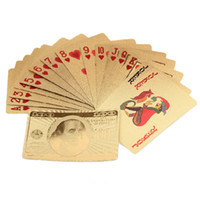 Wholesale Waterproof Gold Foil Poker PET Plastic Playing Cards Best Toys Card Games Magic Props