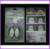 Wholesale 3th Gen Cool Light Up Shoe Laces Glow Stick LED Shoes Shoelaces Dark Wedding Party DISCO