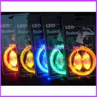 Wholesale 3th Gen Light Up Multi Color Fluorescence Flash Stick Strap LED Shoes Laces with retail packaging