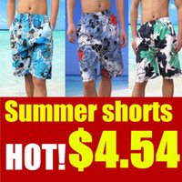 Wholesale New summer casual mens beach shorts plus size swimwear floral swimsuit sport