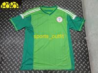 Soccer Men Short Nigeria Home Players Soccer Jerseys 2014 Brazil World Cup Uniforms High Quality Green Soccer Wears Short Shirts Cheap Sports Jerseys