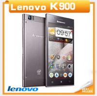 "35Phone 5.5 Android 5.5"" Original Lenovo K900 mobile phone Unlocked Intel Atom Z2580 13.0MP Camera Dual Core 2GB RAM Android 4.2 3G Wifi GPS Phone"