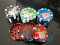 Metal big hand poker - Gift Promotion Hotsale Fashion aluminum big poker chip layer Tobacco Grinder hand Grinder Machine GR070