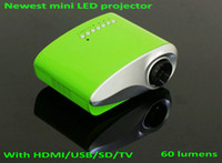 portable digital tv - Newest original home theater cinema mini pico portable LED projector proyector with HDMI USB SD card AV and TV interface