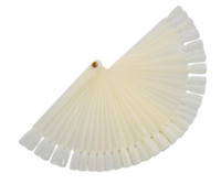 Wholesale Ivory White Plastic Flase Nail Art Tips Stick Display Practice Fan Board amp Nail Art Display natural color