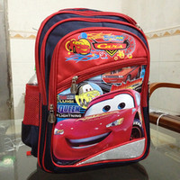 Wholesale High quality cartoon schoolbag Lightning McQueen Cars big backpack children s school bags Kids holiday gift