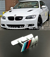 Wholesale Excellent Metal car Emblem sticker For BMW m3 m5 X1 X3 X5 X6 E36 E39 E46 E30 E60 E92 Front Grill decal Badge Brand New