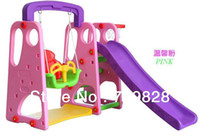 Wholesale indoor plastic slide with sewing indoor playground equipment colors for your choose