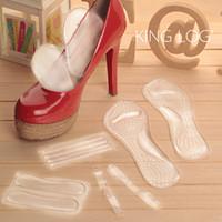 Wholesale High heeled star support gel cushion insert foot balance pump sneaker boot orthopedic protector heel sandal pad insole shoe