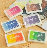 Wholesale Hot Sale Creative Cute Gradient Colors Stamp Ink Pad For DIY Inkpad Ink Paste