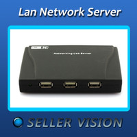 Stock SPC-0482 2-4 New Design 4 Port USB HUB Lan Network Server Printer Scanner NAS