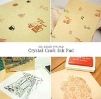Wholesale Diy Stamp Set Ink Pad Nd Rubber Stampcraft Ink Pad Can Use For Facbric Wood Paper
