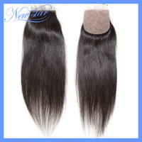 Brazilian Hair Dark Brown Straight new star hair products free style natural color Brazilian Virgin hair straight Silk Based top lace closure DHL Free shipping