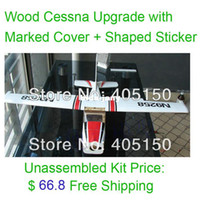 airplane kit rc - RC Cessna Plane Model Unassembled Kit Cover Sticker