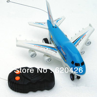 Wholesale On Sale Cheap RC Airplane Aero Bus Model Flashing Light With Voice of the Plane Takes Off Cheap Toy